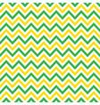 green and yellow chevron retro decorative pattern vector image