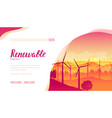 group wind turbines using for produce vector image vector image