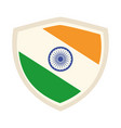 happy independence day india shield with flag