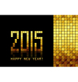 happy new year 2015 - golden mosaic background vector image vector image