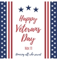Happy Veterans Day background vector image vector image