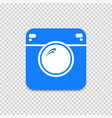 hipster camera icon on gray checkered background vector image