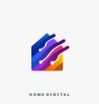 home business real estate template vector image vector image