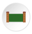 home fence icon circle vector image vector image