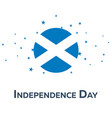 independence day of scotland patriotic banner vector image