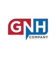 initial logo gnh vector image vector image