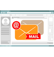 Interface frame design with mail icons vector image