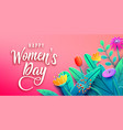international womens day banner with fantasy paper vector image vector image