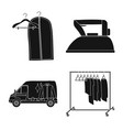 isolated object of laundry and clean logo vector image