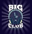 karaoke club audio record studio logo vector image vector image