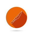 Kitchen knife icon Chef tool sign vector image vector image