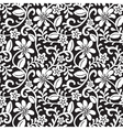 Lace floral pattern vector image