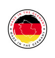made in germany round label vector image vector image