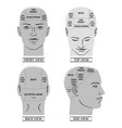 man head divisions scheme vector image vector image