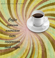 menu for coffee shop vector image