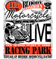 Motorcycle Racing Typography Graphics vector image