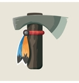 native American Indian tomahawk vector image vector image