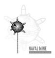 naval mine vector image