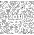new year congratulation card with numbers 2018 and vector image vector image