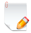 Note and pencil vector image