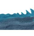 ocean wave and under sea watercolor vector image vector image