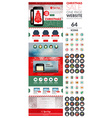 One page website template with icon set vector image vector image