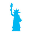 retro silhouette of the statue of liberty vector image