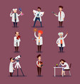 scientists characters set vector image