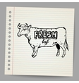 Scribble cow vector | Price: 1 Credit (USD $1)
