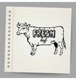 Scribble cow vector image vector image