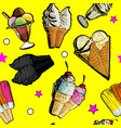 seamless pattern ice creame tasty vector image vector image