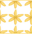 seamless pattern tile cartoon with yellow flower vector image