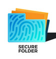 secure data vector image vector image