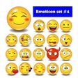 set cute smiley emoticons vector image vector image