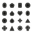 Set of diamond icons and signs