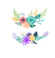 set of floral bouquet isolated on white background vector image vector image