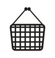 shopping cart sign black vector image vector image