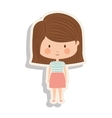 silhouette girl with brown striped hair and shadow vector image vector image