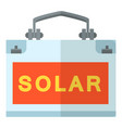 solar generation icon flat style vector image vector image