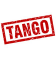 square grunge red tango stamp vector image vector image