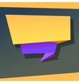 Super origami banner vector image