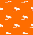 surveillance camera pattern seamless vector image vector image