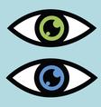 Symbolic eye icon vector image vector image