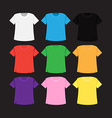 T-shirt template and mockup vector image