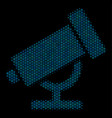 telescope composition icon of halftone spheres vector image