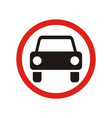 the movement of motor vehicles is prohibited sign vector image