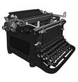 the retro black typewriter vector image