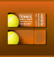 ticket for visit premier league of tennis vector image vector image