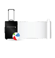 travel bag with tearing paper color vector image vector image