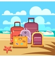 Traveling planning summer vacation tourism vector image